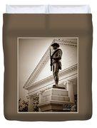 Confederate Memorial In Sepia Tone Duvet Cover