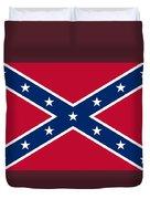Confederate Naval Jack Flag Duvet Cover