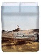 Confederate Submarine, Hunley Duvet Cover