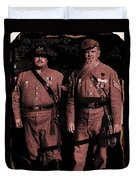 Confederate Tintype Civil War Duvet Cover