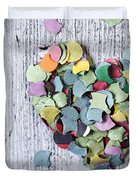 Confetti Heart Duvet Cover
