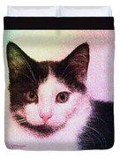 Confetti Kitty Duvet Cover