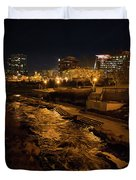 Confluence Park Rapids At Night Duvet Cover