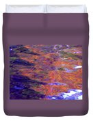 Contour Of Hot Energy Lines Duvet Cover