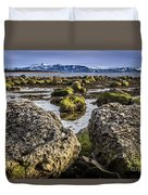 Conglomerate Boulders, Green Point, Nl Duvet Cover