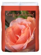 Congratulations Card For Girl Or Woman Duvet Cover