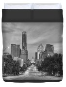 Congress Andtexas Capitol Black And White 1 Duvet Cover