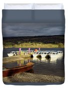 Coniston Water Boats Duvet Cover