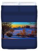 Conley Road Farm Winter  Duvet Cover