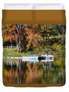 Connect Lake In The Fall Duvet Cover
