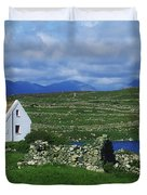 Connemara, Co Galway, Ireland Cottages Duvet Cover