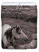 Connemura Horse-signed-#300 Duvet Cover