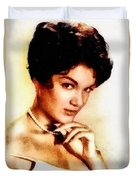 Connie Francis, Music Legend By John Springfield Duvet Cover