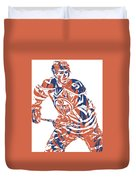Connor Mcdavid Edmonton Oilers Pixel Art 3 Duvet Cover