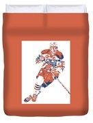 Connor Mcdavid Edmonton Oilers Pixel Art 6 Duvet Cover