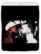 Conor Mcgregor And Floyd Mayweather Face Off  Duvet Cover