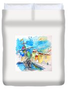 Conquistador Boat In Portugal Duvet Cover