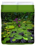 Conservatory Waterlilies Duvet Cover