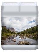 Consolation Lake Banff Duvet Cover