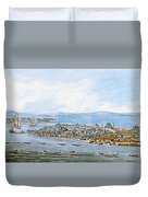 Constantinople Ships Duvet Cover