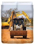 Construction Digger Duvet Cover
