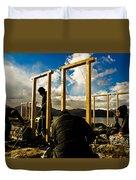 Construction In Ladakh Duvet Cover