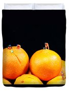 Construction On Oranges Duvet Cover