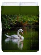 Contemplating Swan Duvet Cover