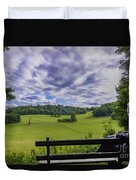 Contemplating The Beautiful Scenery Duvet Cover