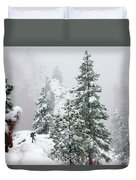 Contemplating The Hike Duvet Cover