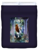Contemplation Duvet Cover by Mary Hood