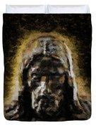 Contemplative Christ Duvet Cover