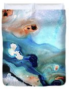 Contemporary Abstract Art - The Flood - Sharon Cummings Duvet Cover