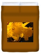 Contemporary Flower Artwork 10 Daffodil Flowers Evening Glow Duvet Cover