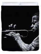 Contemporary Jazz Trumpeter Duvet Cover by Richard Young