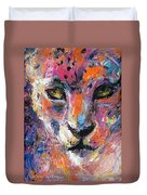 contemporary Wildlife painting cheetah leopard  Duvet Cover