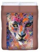 contemporary Wildlife painting cheetah leopard  Duvet Cover by Svetlana Novikova