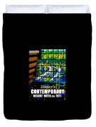 Contemporary Window To The World Duvet Cover