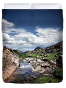 Continental Divide Above Twin Lakes 3 - Weminuche Wilderness Duvet Cover