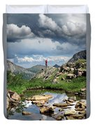 Continental Divide Above Twin Lakes 4 - Weminuche Wilderness Duvet Cover