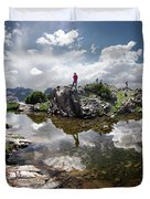 Continental Divide Above Twin Lakes 5 - Weminuche Wilderness Duvet Cover