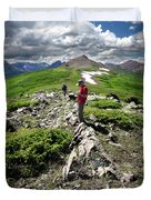 Continental Divide Above Twin Lakes 7 - Weminuche Wilderness Duvet Cover