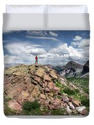 Continental Divide Above Twin Lakes - Weminuche Wilderness Duvet Cover