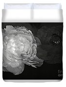 Contrasts In Floral Kingdom In Black And White. Duvet Cover