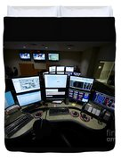 Control Room Center For Emergency Duvet Cover by Terry Moore