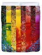 Conundrum I - Rainbow Woman Duvet Cover