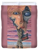 Conversation With Death - My Body Duvet Cover by Karen Musick