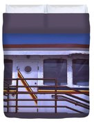 Converted Tugboat Cabin   Canal Park  Duluth Minnesota Duvet Cover