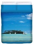 Cook Islands, Rarotonga Duvet Cover