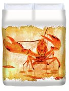 Cooked Lobster On Parchment Paper Duvet Cover